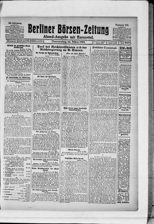 Berliner Börsen-Zeitung vom 10.03.1921