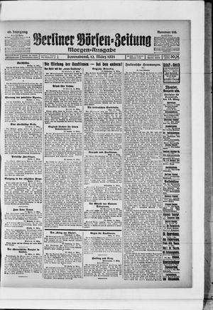 Berliner Börsen-Zeitung vom 12.03.1921