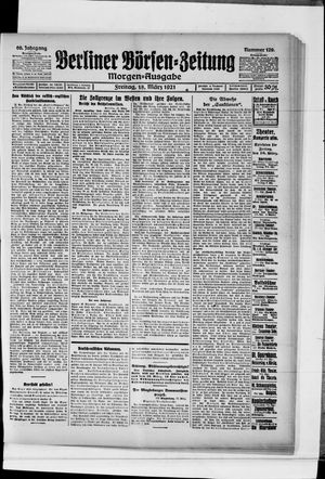 Berliner Börsen-Zeitung vom 18.03.1921