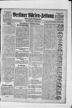 Berliner Börsen-Zeitung vom 20.03.1921