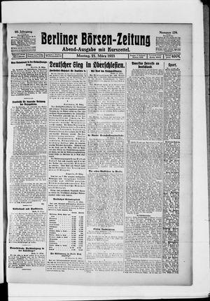 Berliner Börsen-Zeitung vom 21.03.1921