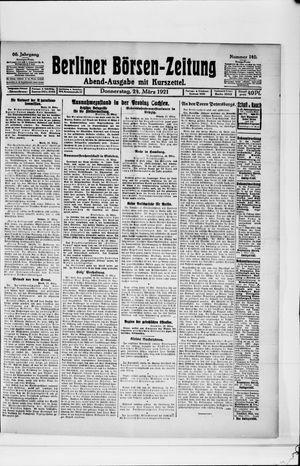 Berliner Börsen-Zeitung vom 24.03.1921