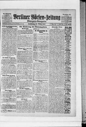 Berliner Börsen-Zeitung vom 27.03.1921
