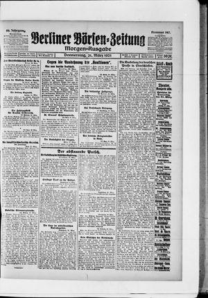 Berliner Börsen-Zeitung vom 31.03.1921