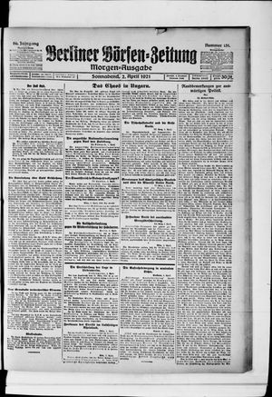 Berliner Börsen-Zeitung vom 02.04.1921