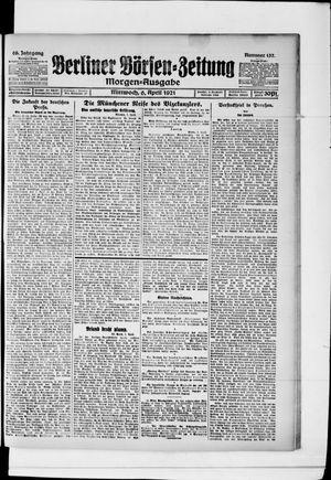 Berliner Börsen-Zeitung vom 06.04.1921