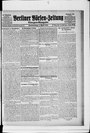 Berliner Börsen-Zeitung vom 07.04.1921