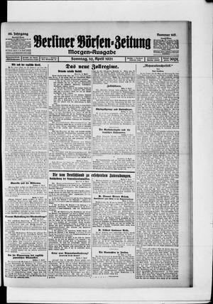 Berliner Börsen-Zeitung vom 10.04.1921