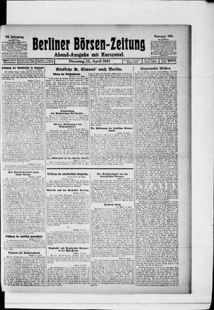 Berliner Börsen-Zeitung vom 12.04.1921