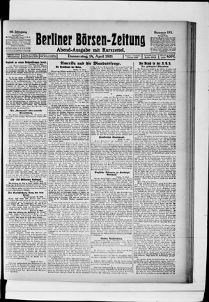 Berliner Börsen-Zeitung vom 14.04.1921