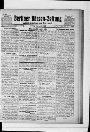 Berliner Börsen-Zeitung vom 15.04.1921