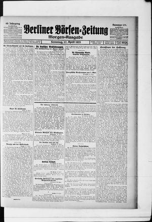 Berliner Börsen-Zeitung vom 17.04.1921