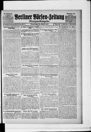 Berliner Börsen-Zeitung vom 19.04.1921