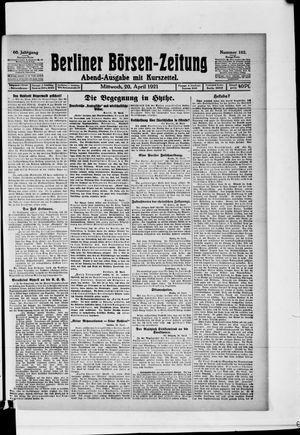 Berliner Börsen-Zeitung vom 20.04.1921