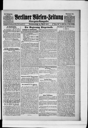 Berliner Börsen-Zeitung vom 21.04.1921