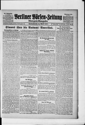 Berliner Börsen-Zeitung vom 23.04.1921