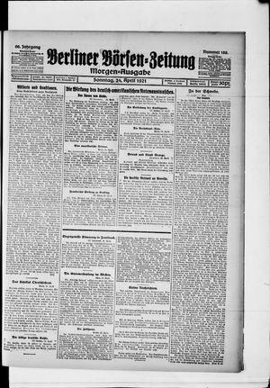 Berliner Börsen-Zeitung vom 24.04.1921