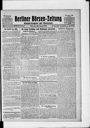 Berliner Börsen-Zeitung vom 25.04.1921