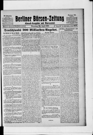 Berliner Börsen-Zeitung vom 26.04.1921