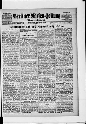 Berliner Börsen-Zeitung vom 27.04.1921