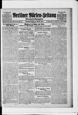 Berliner Börsen-Zeitung vom 28.04.1921