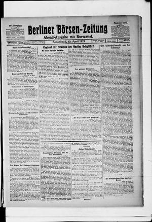Berliner Börsen-Zeitung vom 30.04.1921
