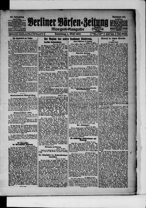 Berliner Börsen-Zeitung vom 01.05.1921