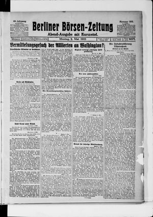 Berliner Börsen-Zeitung vom 02.05.1921