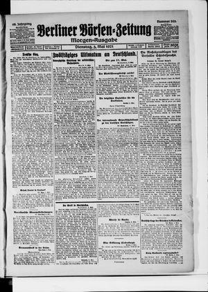 Berliner Börsen-Zeitung vom 03.05.1921