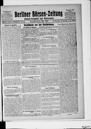 Berliner Börsen-Zeitung vom 07.05.1921