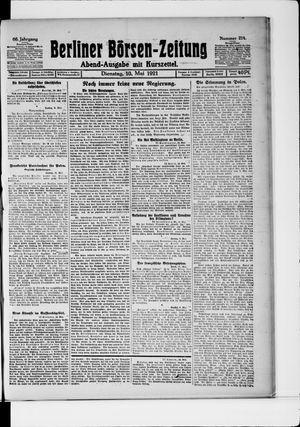 Berliner Börsen-Zeitung vom 10.05.1921