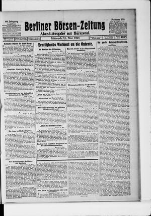 Berliner Börsen-Zeitung vom 11.05.1921