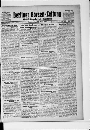 Berliner Börsen-Zeitung vom 12.05.1921