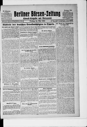 Berliner Börsen-Zeitung vom 13.05.1921