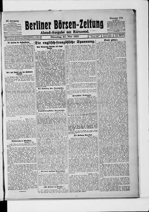 Berliner Börsen-Zeitung vom 17.05.1921