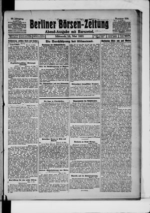 Berliner Börsen-Zeitung vom 18.05.1921