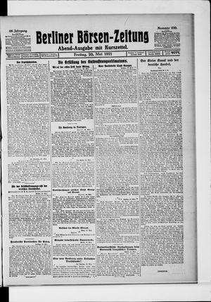Berliner Börsen-Zeitung vom 20.05.1921