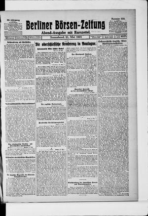 Berliner Börsen-Zeitung vom 21.05.1921