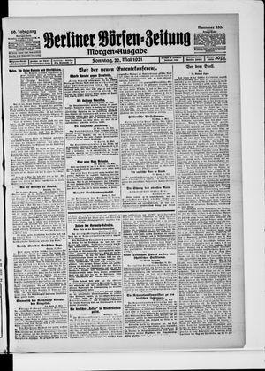 Berliner Börsen-Zeitung vom 22.05.1921