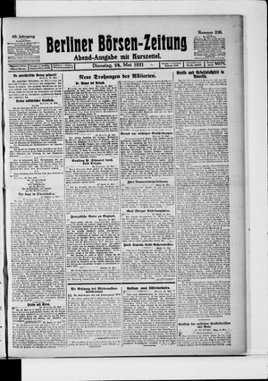 Berliner Börsen-Zeitung on May 24, 1921