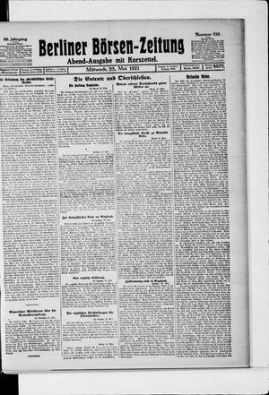 Berliner Börsen-Zeitung vom 25.05.1921