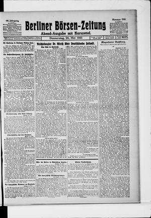 Berliner Börsen-Zeitung vom 26.05.1921