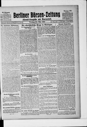 Berliner Börsen-Zeitung on May 27, 1921