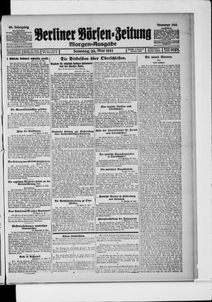 Berliner Börsen-Zeitung vom 29.05.1921