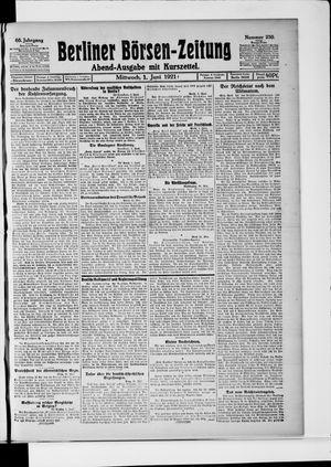 Berliner Börsen-Zeitung vom 01.06.1921
