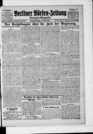 Berliner Börsen-Zeitung vom 02.06.1921