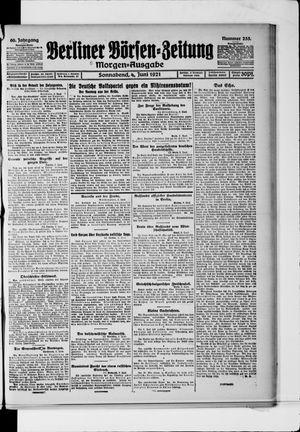 Berliner Börsen-Zeitung vom 04.06.1921