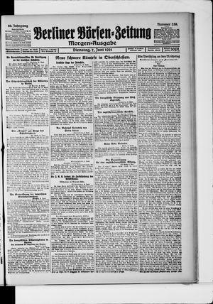 Berliner Börsen-Zeitung vom 07.06.1921