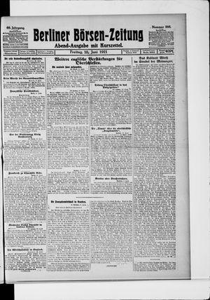Berliner Börsen-Zeitung vom 10.06.1921