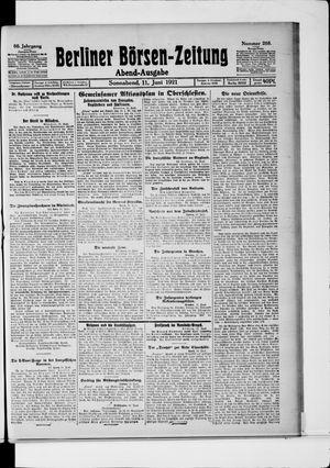 Berliner Börsen-Zeitung vom 11.06.1921